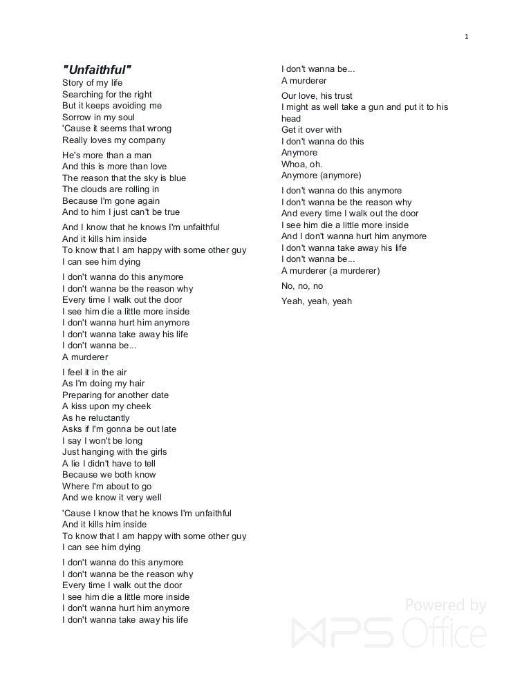 Lyric lyrics to all i need is a touch from you : RIHANNA HIT LYRICS