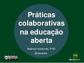 Seminário Recursos e Práticas Educacionais Abertas no Ensino Superior: desafios e oportunidades - Andreia Inamorato