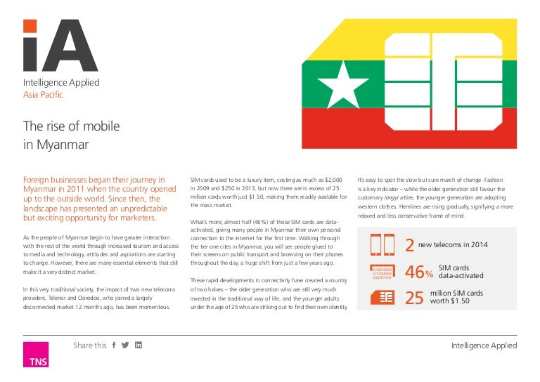 The rise of mobile in myanmar