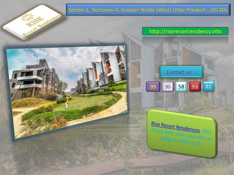 rise resort residences villas in greater noida west slideshare