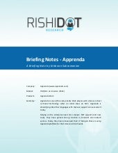 Rishidot Research Briefing Notes - Apprenda