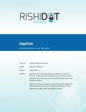Rishidot Research Briefing Note - AppZero