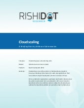 Rishidot research briefing notes   Cloudscaling