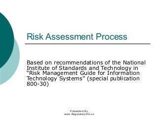 Risk Assessment   LinkedIn