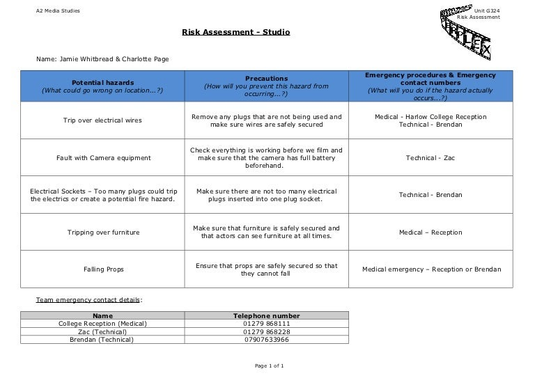 Risk AssessmentTemplate