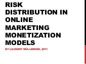 Risk distribution in online marketing monetization models