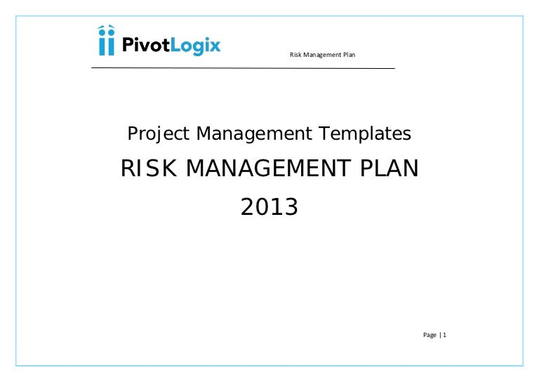 Pmp  Risk Management Plan  Template
