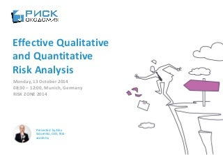 Quantitative Risk Analysis In Project Management