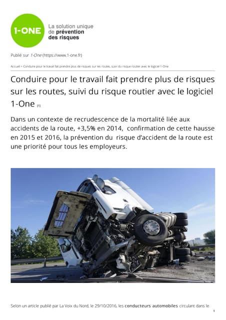 Risque routier et logiciel prévention des risques