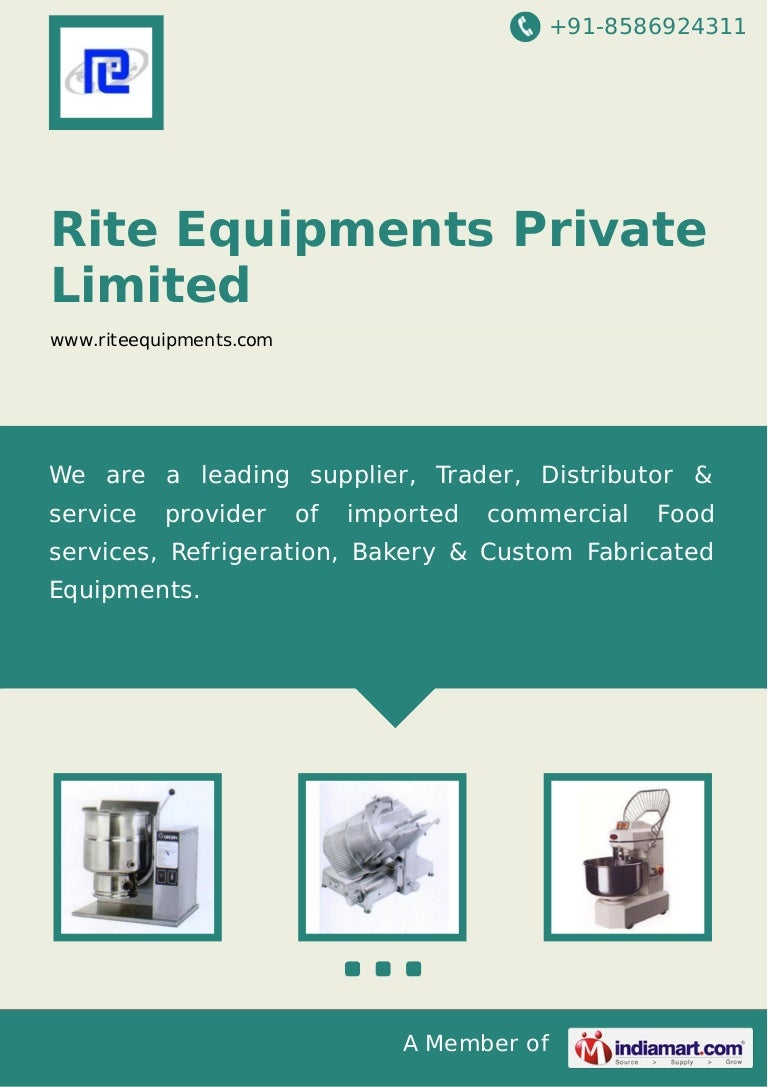 Rite Equipments Private Limited, Bengaluru, Cooking Equipment
