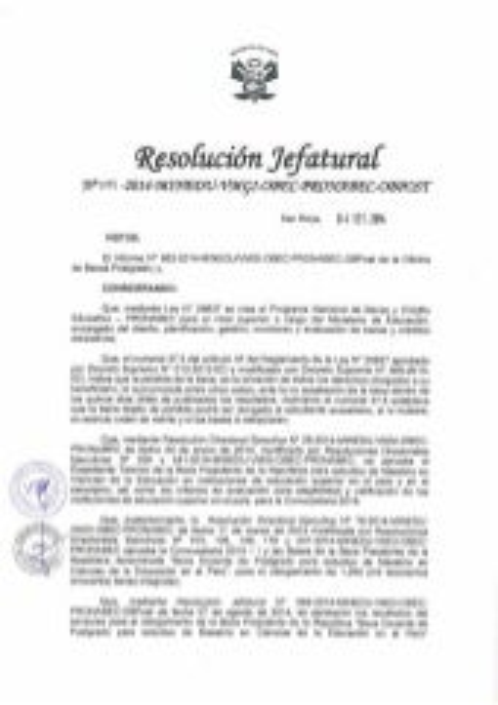 BECARIOS MAESTRÍA EN CIENCIAS DE LA EDUCACIÓN 2014