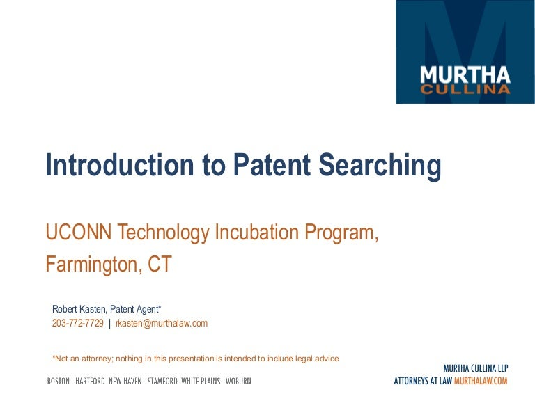 Introduction To Patent Searching