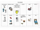 Visual timetable for students