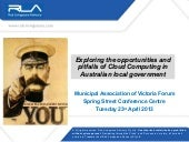 Exploring the opportunities and pitfalls of Cloud Computing in Australian local government