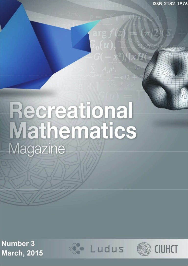 Recreational mathematics magazine number 3 march 2015