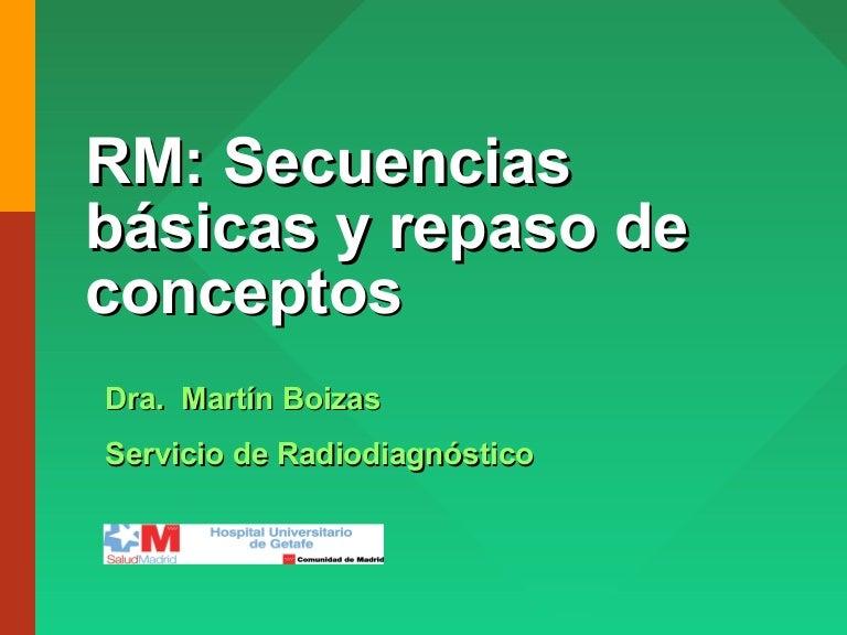 RM. Secuencias y conceptos básicos