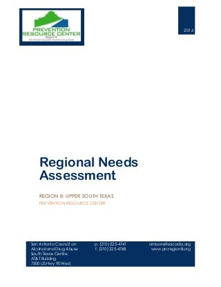 PRC Region 8 2016 Regional Needs Assessment