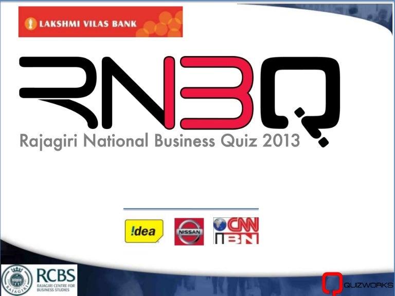 Rajagiri National Business Quiz 2013 - Offline Prelims