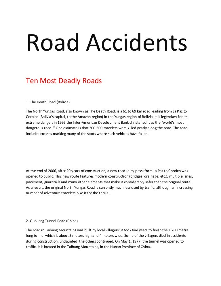 cause and effect essay car accidents
