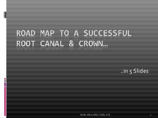 Road Map to a Successful Root Canal.