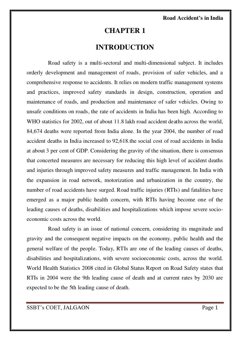 essay on road safety in india