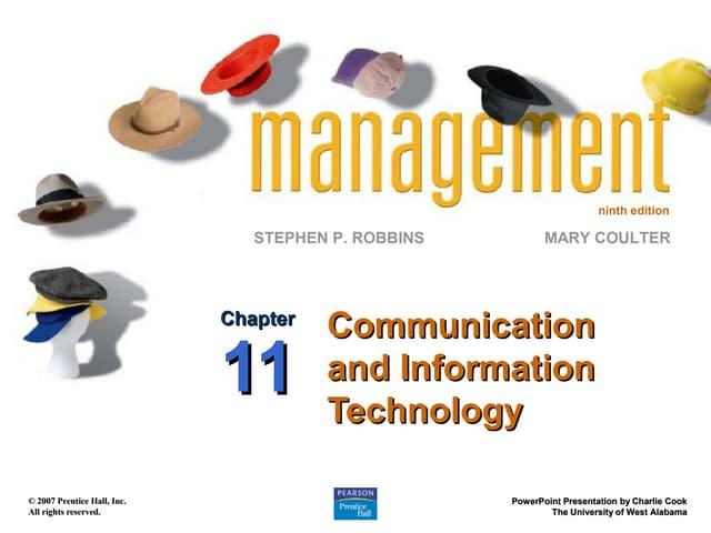 Robbins9 ppt11 communication