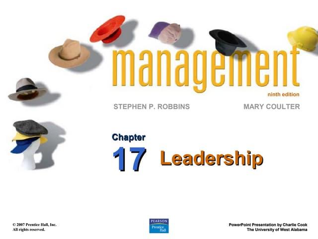 Robbins9 ppt17 leadership