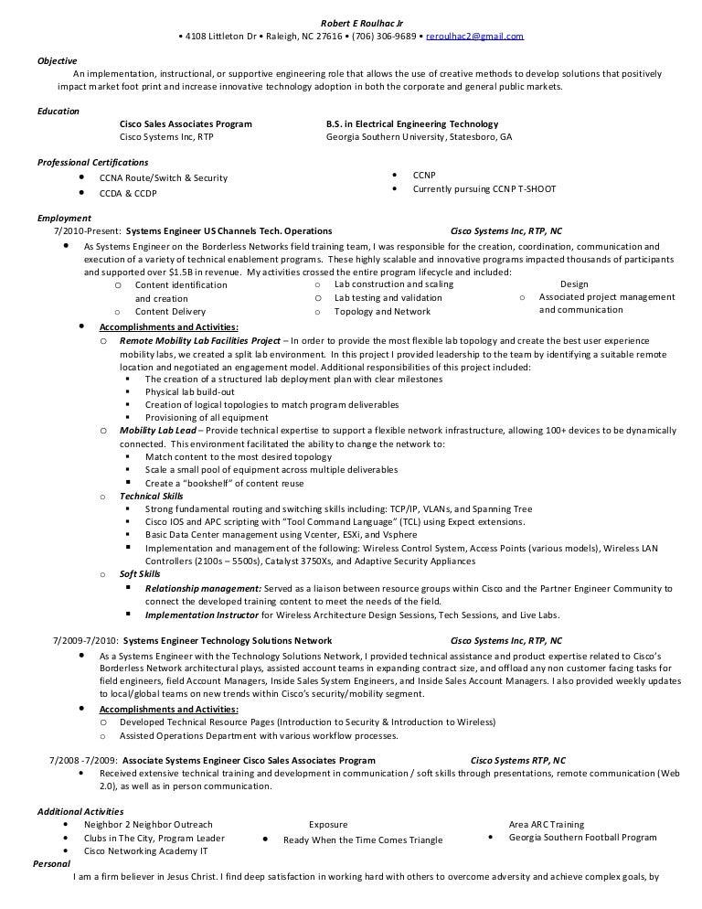 robert e roulhac jr resume