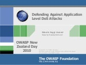 Defending Against Application DoS attacks