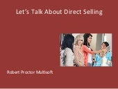 Let's Talk About Direct Selling by Robert Proctor of Multisoft