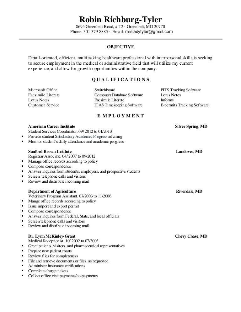 Robins 2013 resume