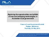 Exploring the opportunities and pitfalls of new and emerging technologies in Australian local government