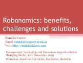 Robonomics: benefits, challenges and solutions