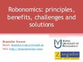 Robonomics: principles, benefits, challenges, solutions