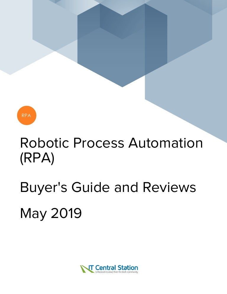 RPA Vendors report ITCentralStation - May 2019