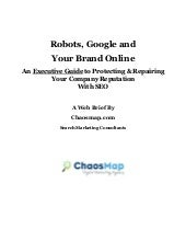 Robots, Google And Your Brand Reputation Online -