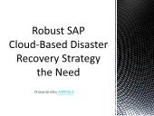 Robust SAP Cloud-Based Disaster Recovery Strategy the Need