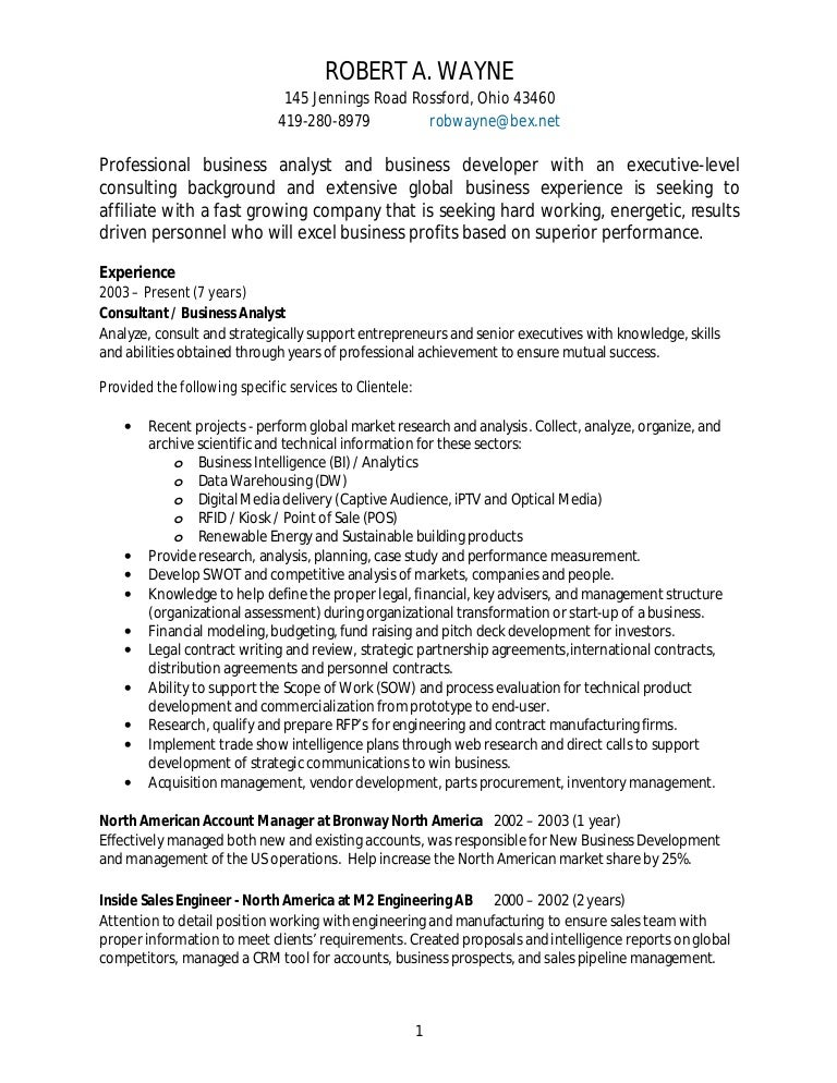 Crm resume template