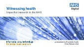Witnessing health: impactful user research in the NHS
