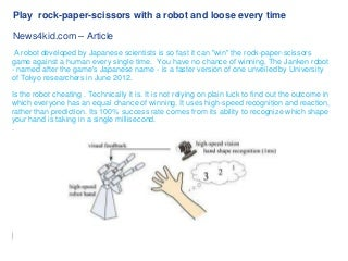 Play rock-paper-scissors with a robot and loose every time www.news4kid.com