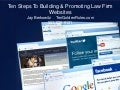 10 strategies for Building and Promoting Law Firm Websites final