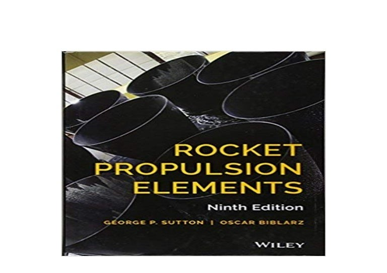Pdf No Buy Library Rocket Propulsion Elements 9th Edition Hardcov