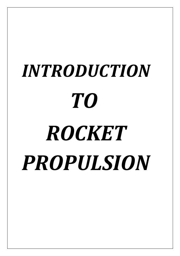 Rocket Propulsion Report 2 Missile Engine Diagram