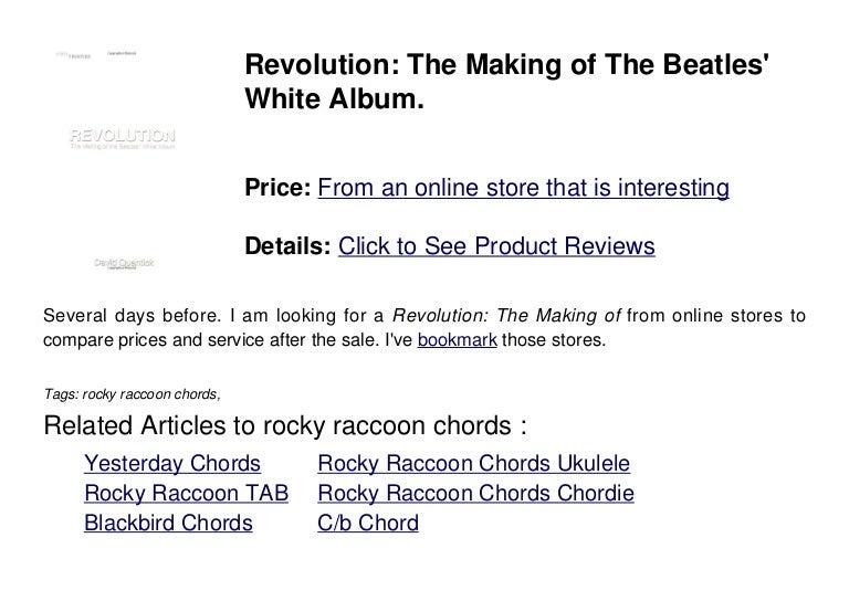 Rocky Raccoon Chords