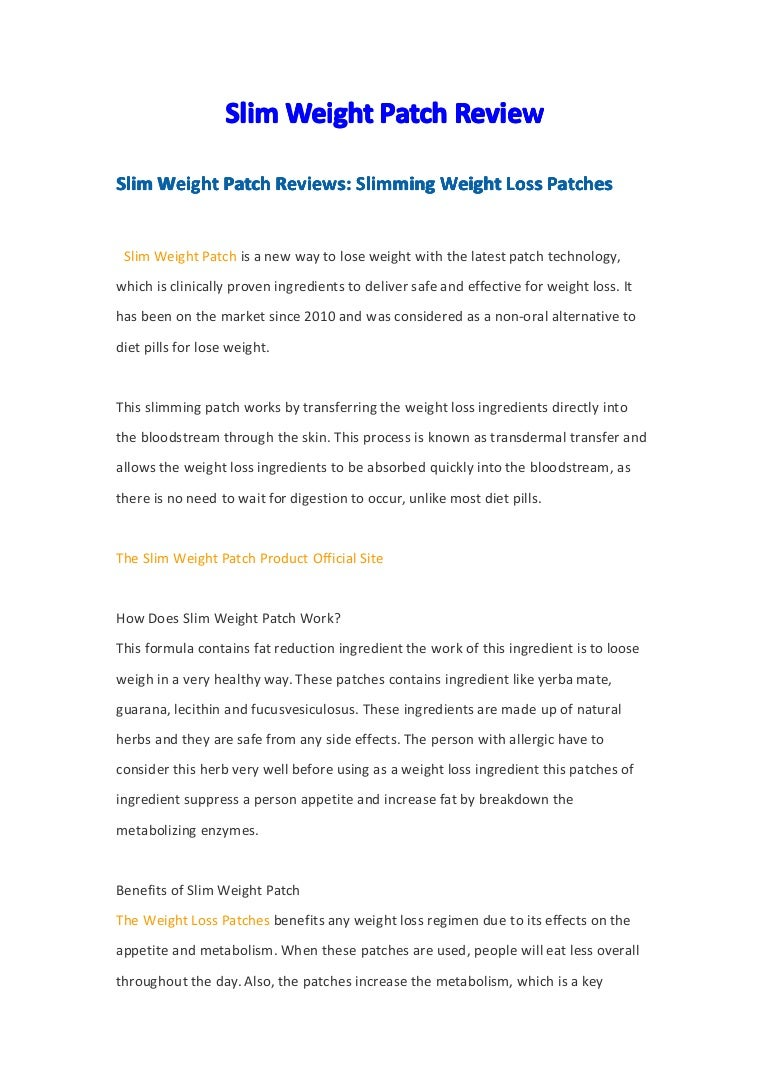 Roduve Slim Weight Patch Review