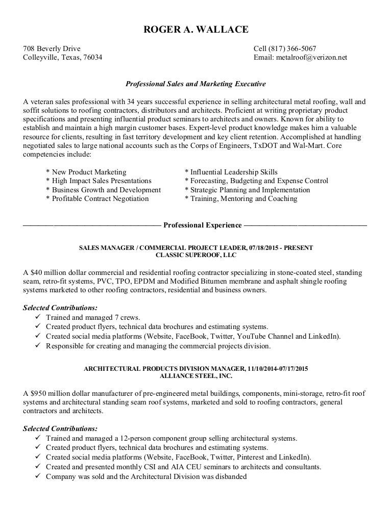Roger Wallace Resume 1-12-18