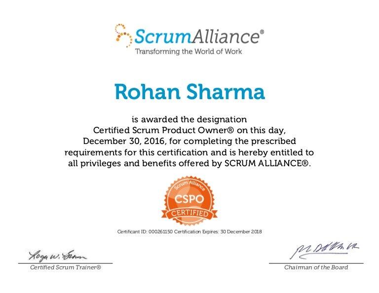 Rohan Sharma Cspo Certificate