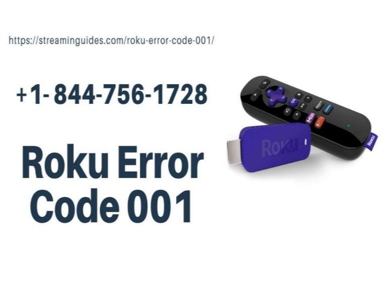 Roku Error Code 001 Fixes –Quick Help Activate Roku Com/Link