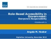 Role-Based Accessibility in Government