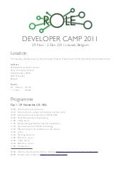 ROLE Developer Camp 2011